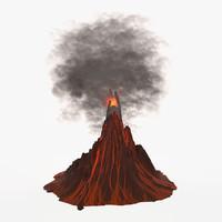 volcano active 3d model