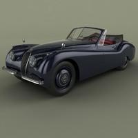 3d model 1953 xk 120 drop
