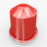 3d model nespresso capsule decaffeinato