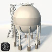 storage gas 3d max