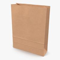 3d paper bag 5 model