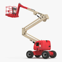 Telescopic Boom Lift JLG 450AJ Red 2