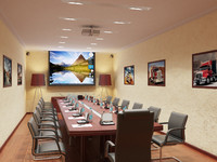 3d interior meeting room