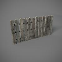 3d model old fence