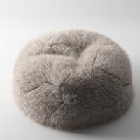 3d model hairy pouf