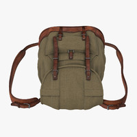 travel backpack 3d obj