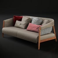 3d frigerio burton sofa model