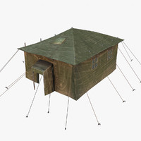 military tent 3d obj