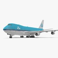 3d boeing 747 100b klm
