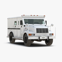 3d model bank armored car simple