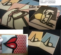 3d model roy lichtenstein printing