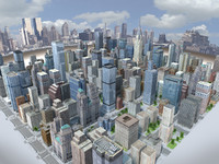 3d city mega real time model