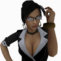 3d girl woman model