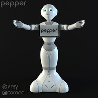 robot pepper 3d max