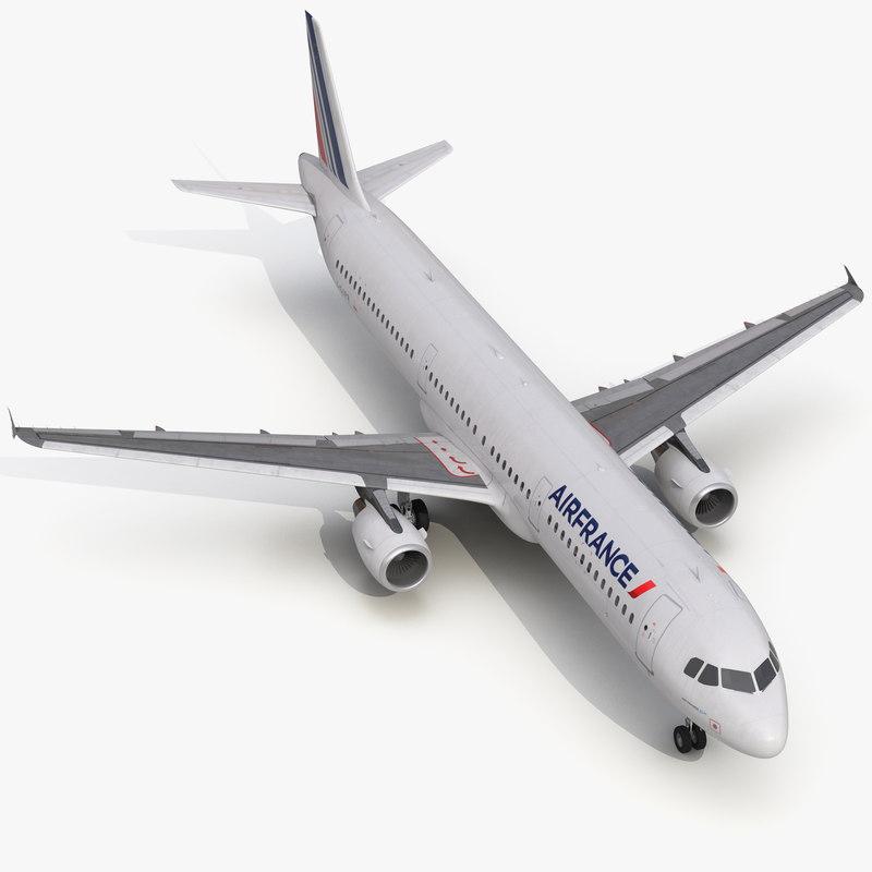 Airbus A321 Air France 3d model 01.jpg