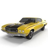 1970 buick gsx 3d obj