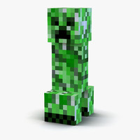 3d minecraft creeper