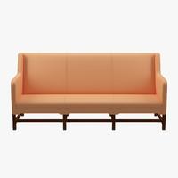 kaare klint sofa sides 3d model