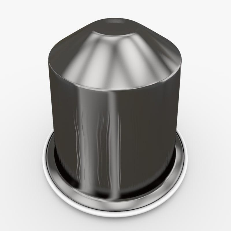 3d model nespresso capsule ristretto # Nespresso Ristretto