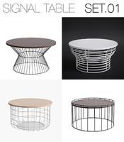3d model signal table set 01