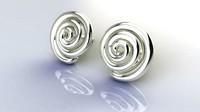3ds spiral earrings