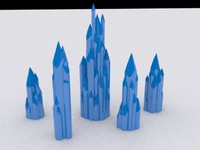 free small crystal 3d model