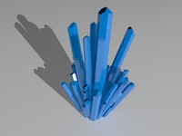 3d model large crystal