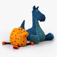 cuddly toys 3d c4d