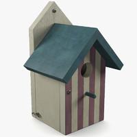 house birdhouse bird 3d model