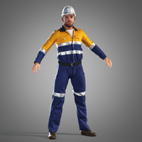 engineer worker 3d model