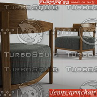 jenny armchair 3d model