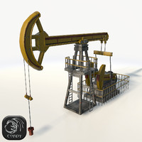 jack pump oil 3d model