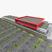 shopping mall parking 3d model