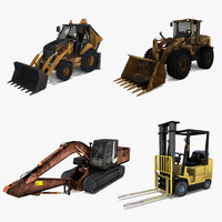 3d construction machines model