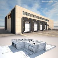 cargo building 3d max
