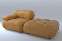 3d model classic modular camaleonda sofa