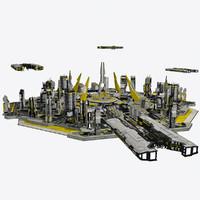 Sci-fi City Futurescape Cityscape 2 - Sci fi Modular Environment Pro HD
