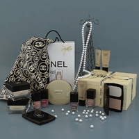 decorative set chanel 3d obj