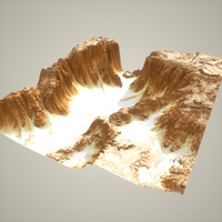 desert canyon 3d model