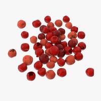 3d model red peppercorns