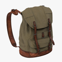 3d standing travel backpack model