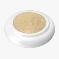 bowl ground white pepper 3d model