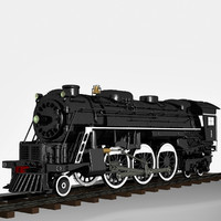 3d model 2-6-4 a1 steam locomotive