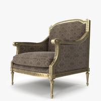 3d model angelo cappellini armchair