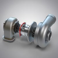 turbocharger turbo 3d model