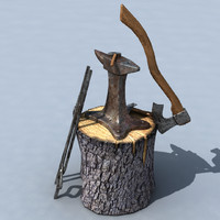 3d blacksmith anvil set