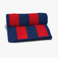 max beach towel red