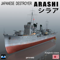 japanese destroyer arashi 3d 3ds