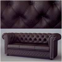 chesterfield classic sofa 3d model