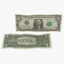 one dollar bill 3D models